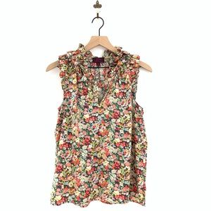 J.Crew Ruffle Top in Liberty Thorpe Floral Size 6
